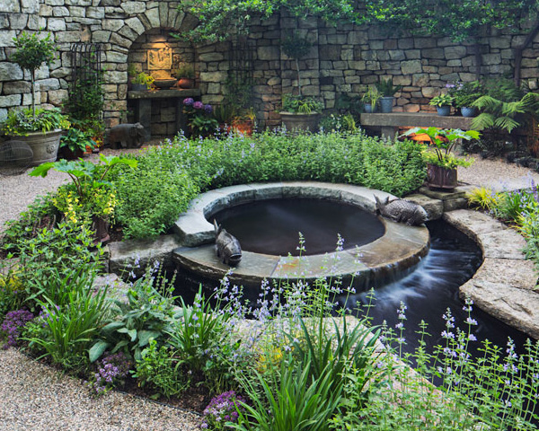 Award-winning Garden Landscaping by Cording Landscape Design, Mansion in May, 2012
