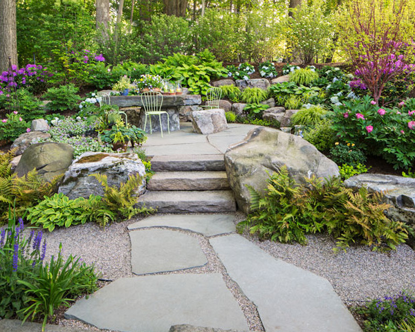 Award winning garden for 39 mansion in may 39 for Garden design awards