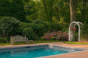 Rose Arbor Pool Garden