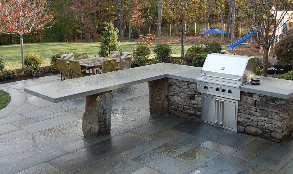 Outdoor kitchens cording landscape design for Outside kitchens and patios