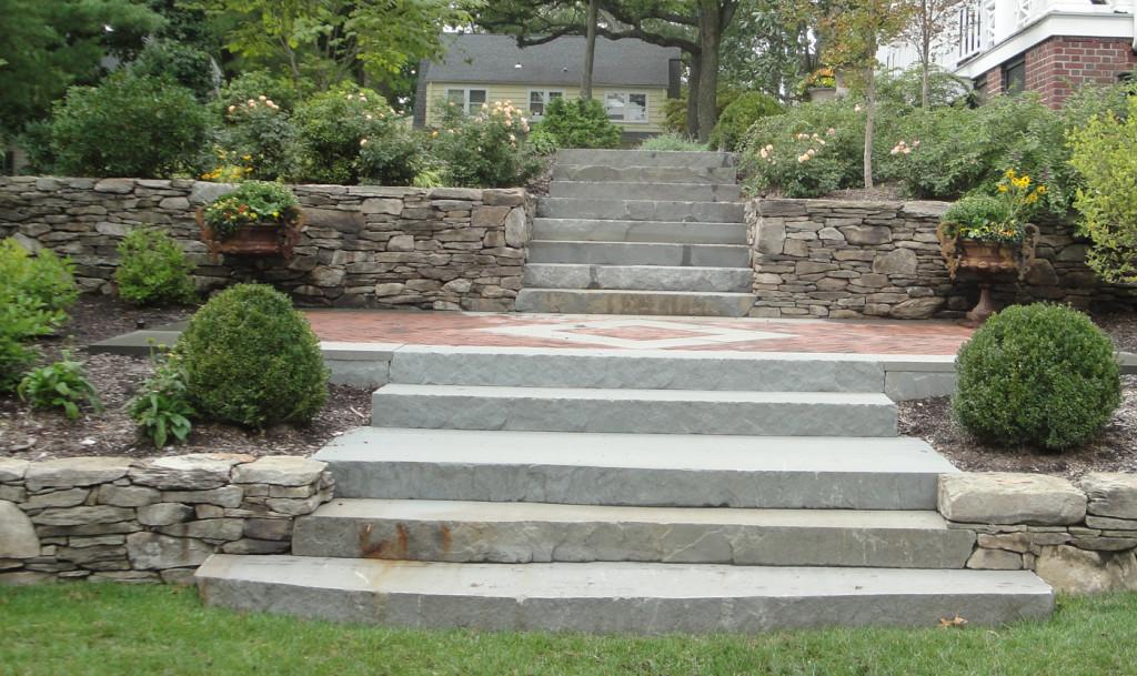 Natural Stone Steps : Natural stone steps cording landscape design