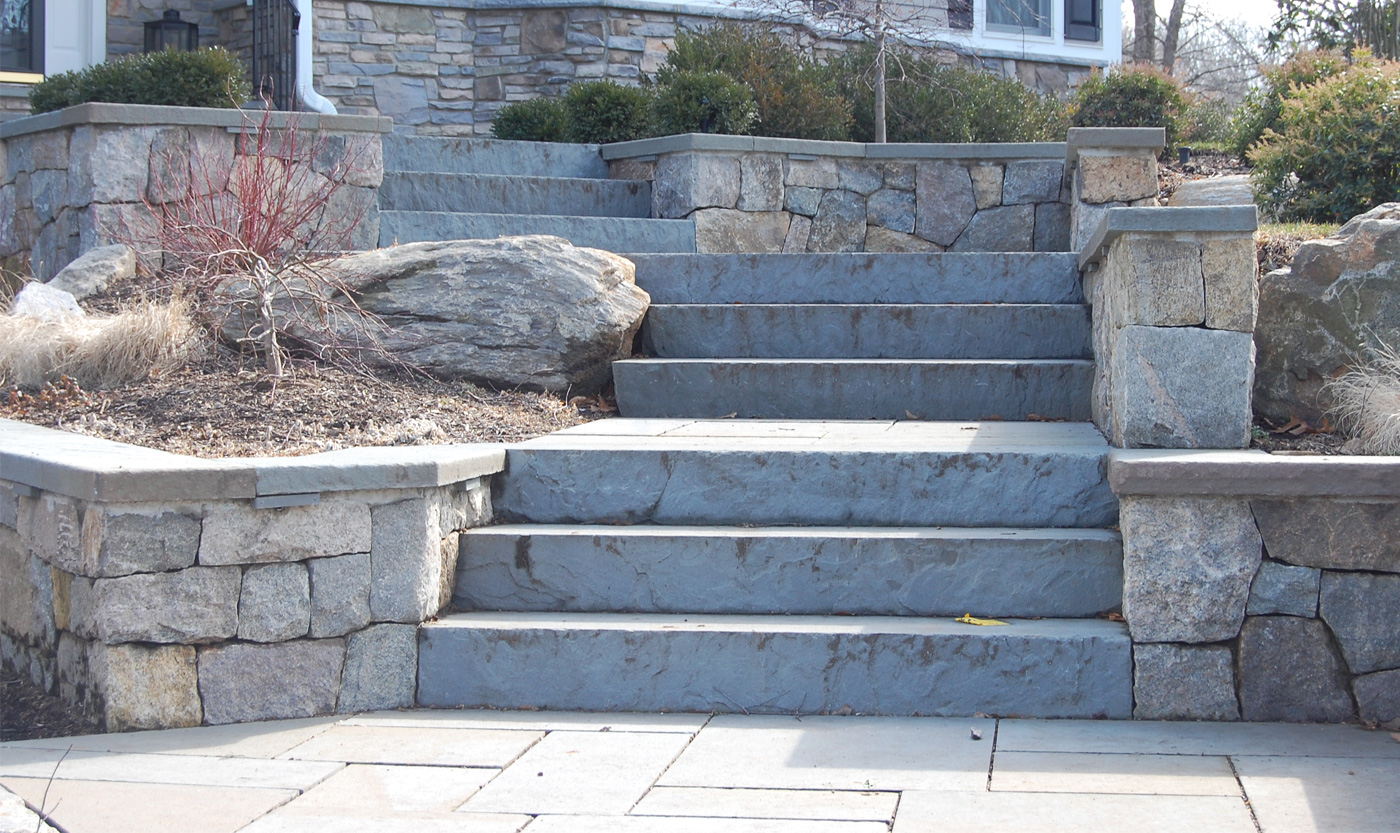 Bluestone Steps - Stone Landscaping
