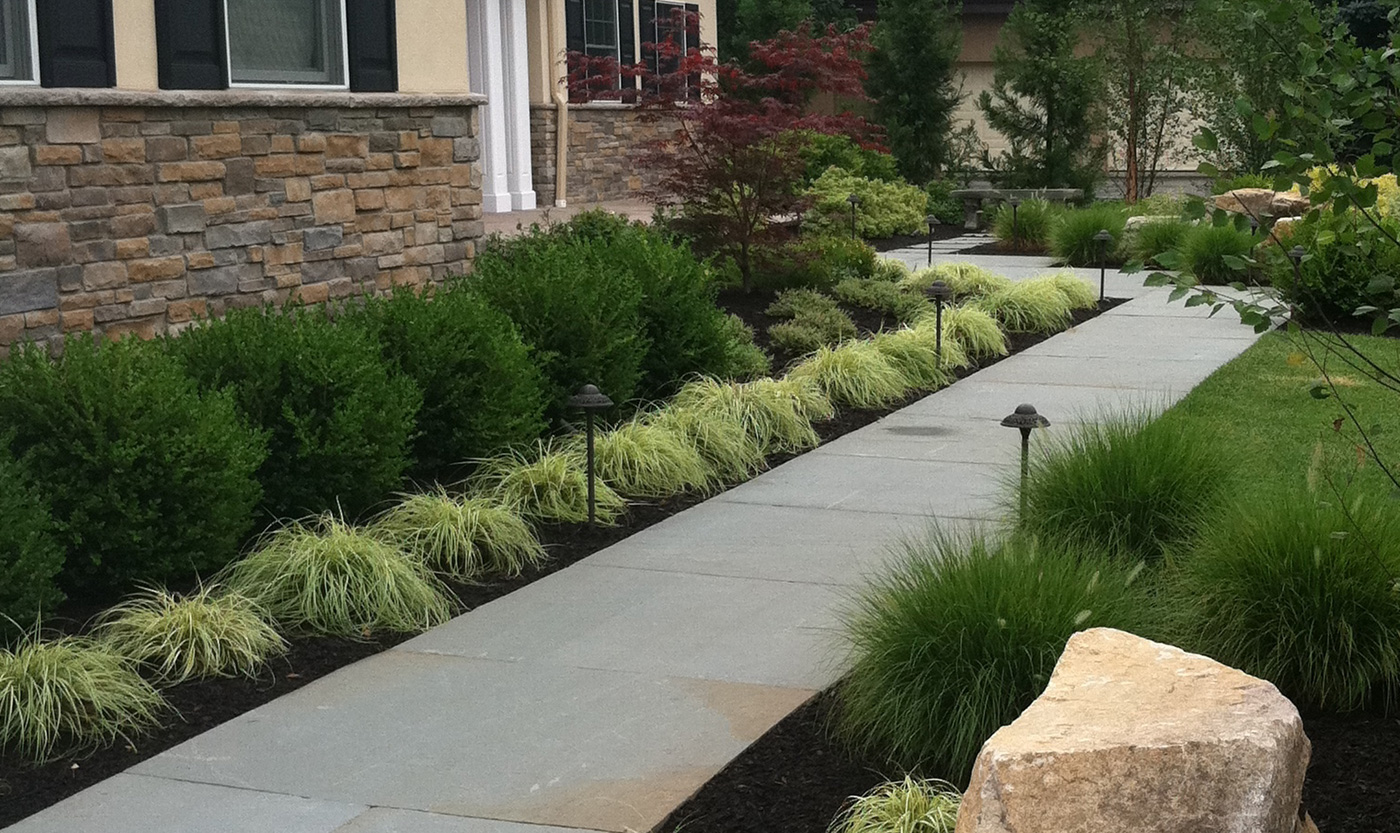 bluestone walkway by cording landscape design cording