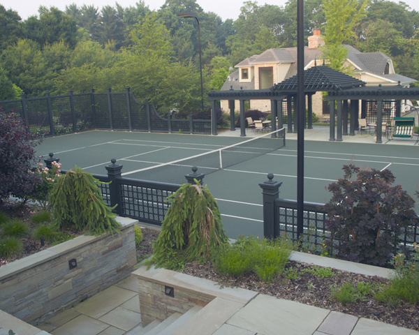 Harding Township Landscaping Tennis Court