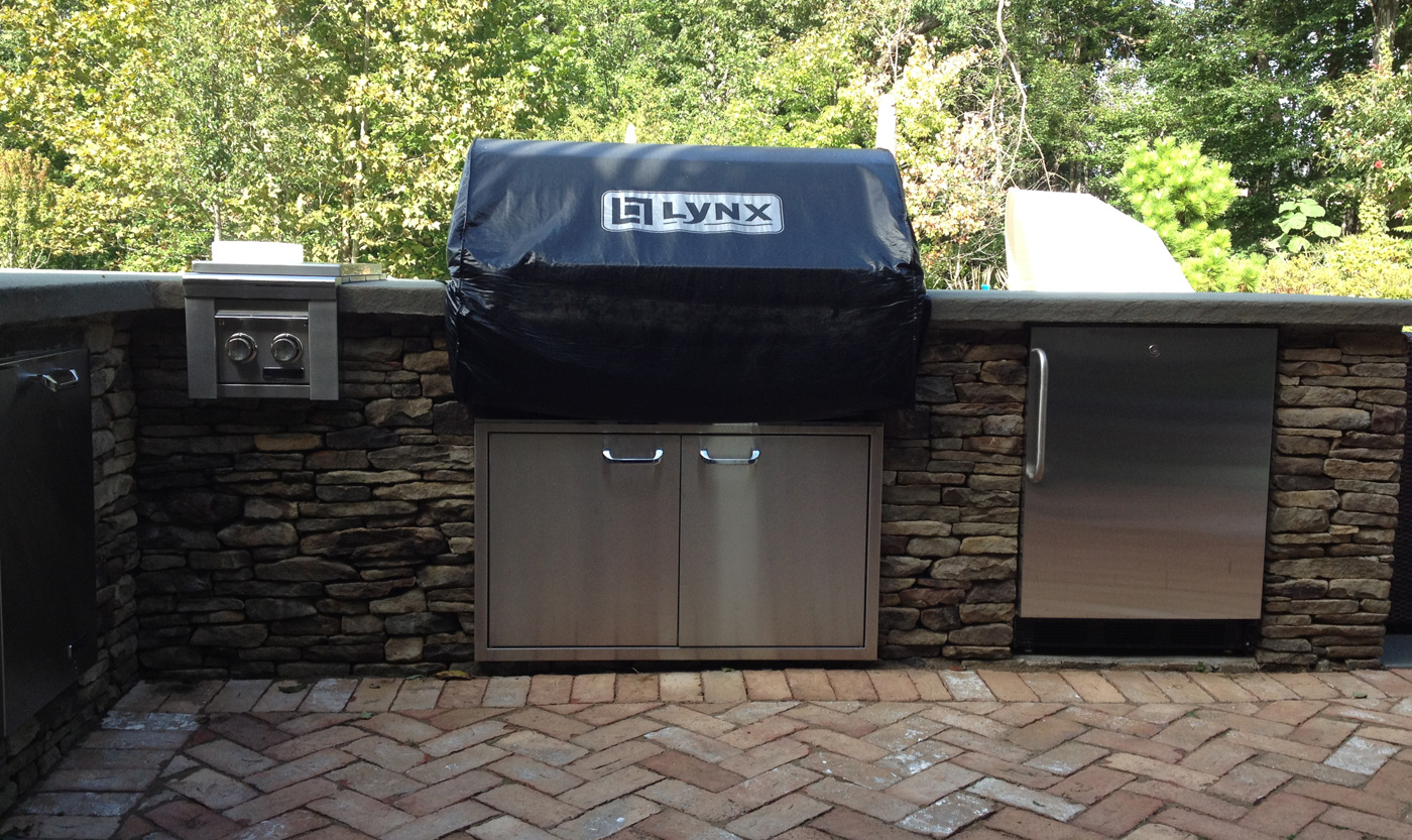Stone Patio - BBQ Enclosure