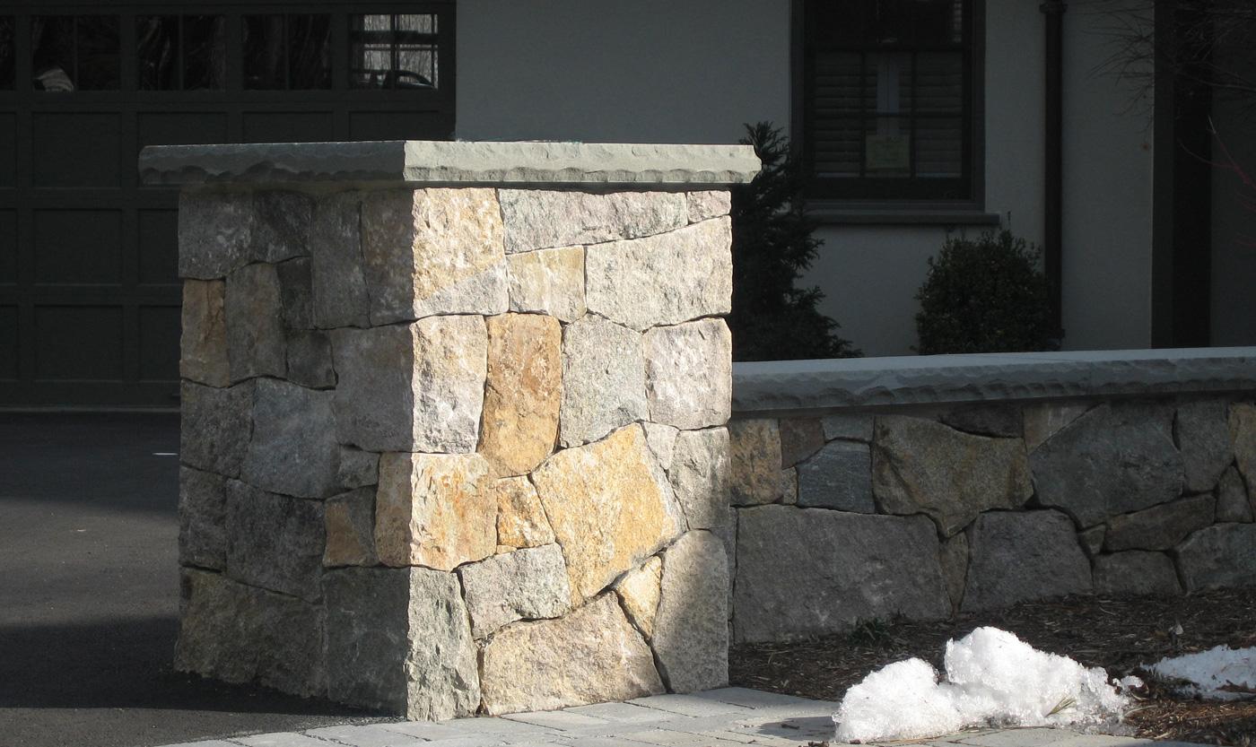 Stone Seat Walls Cording Landscape Design