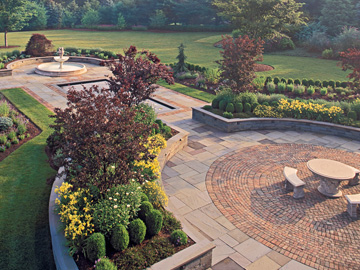 Brick and Bluestone Patio by Cording Landscape Design