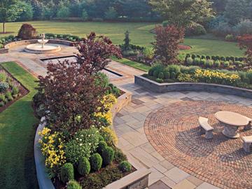 Brick and Bluestone Patio by Cording Landscape Design