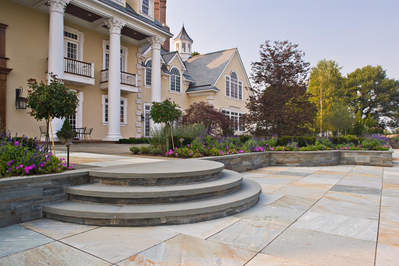 Built Stone Steps Landscaping