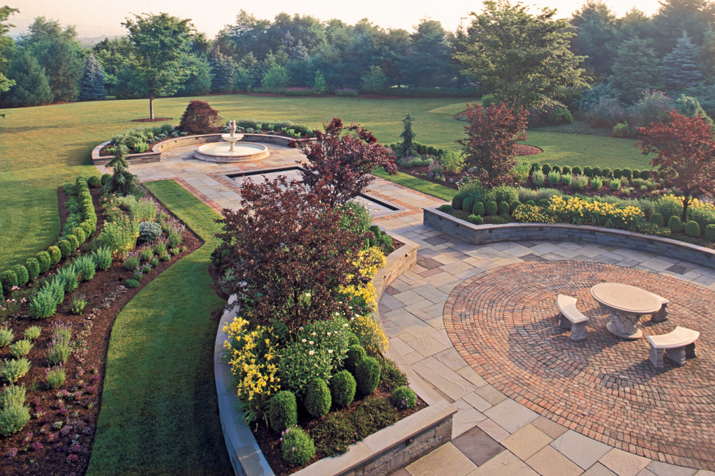 Formal gardens cording landscape design new jersey for Formal landscape design