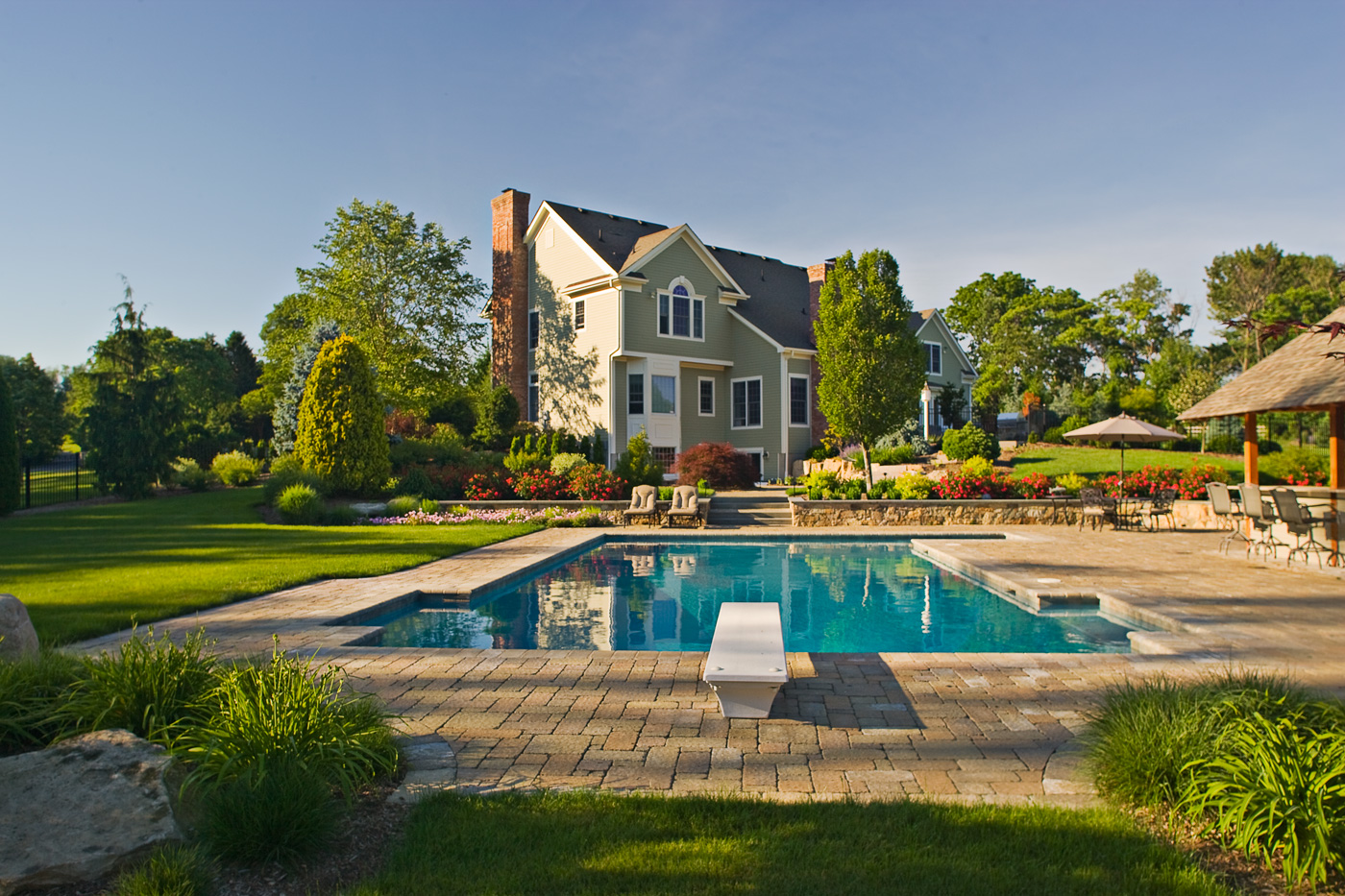 formal swimming pool nj landscaping. Interior Design Ideas. Home Design Ideas