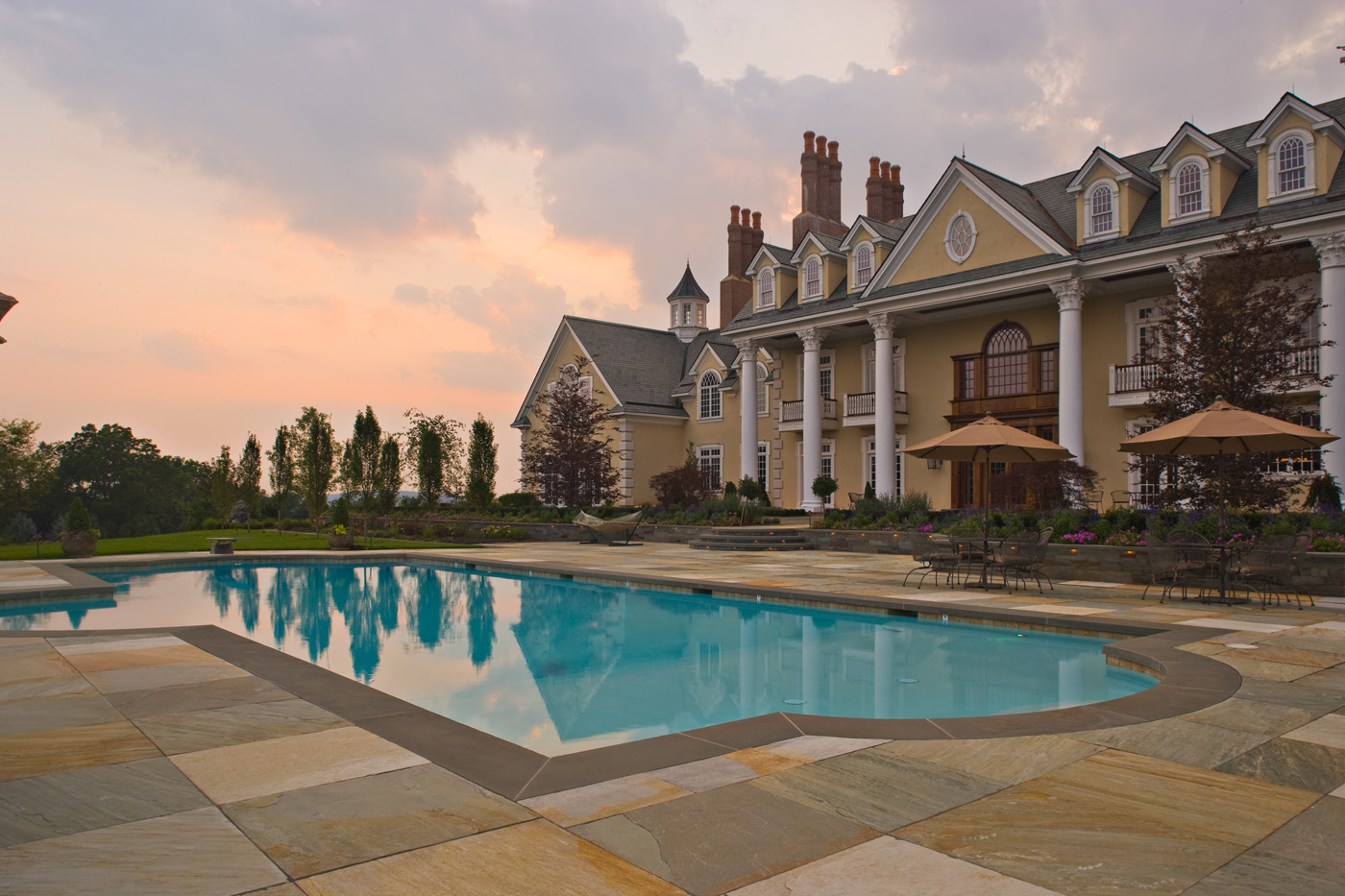 Formal Swimming Pool by Cording Landscape Design