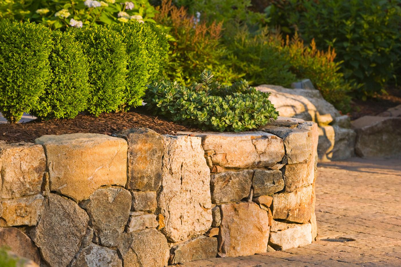 Landscaping Natural Stone : Natural stone retaining walls cording landscape design