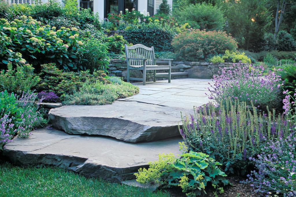 Natural Stone Steps Cording Landscape Design