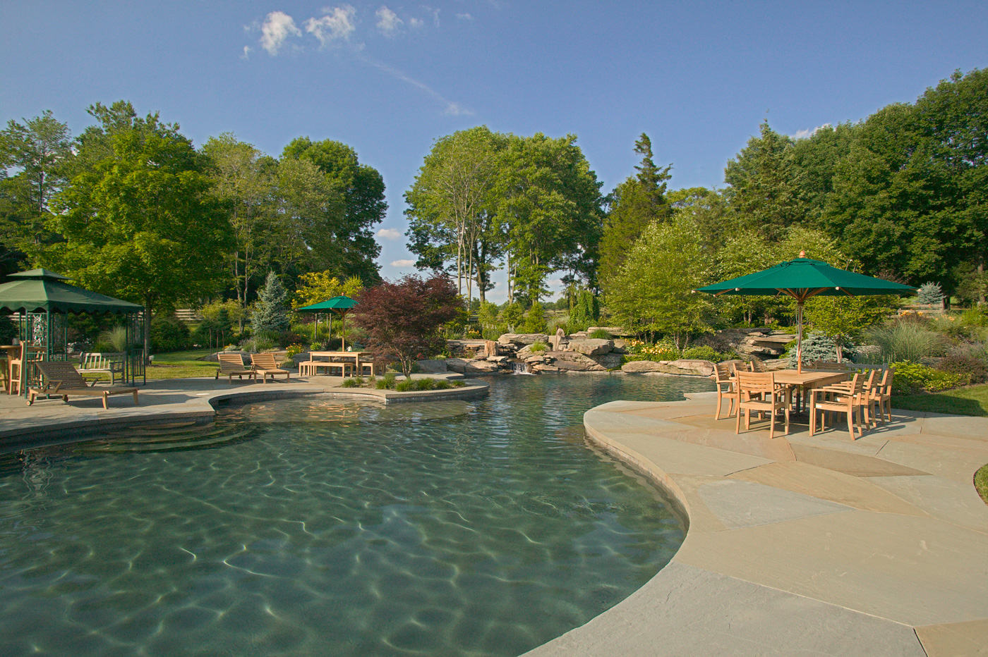 Natural Swimming Pool in NJ by Cording Landscape Design
