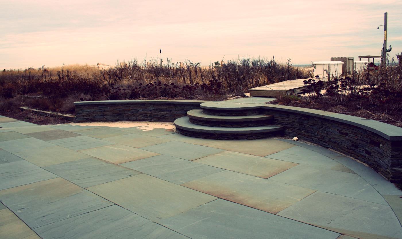 Square Cut Bluestone Patio by Cording Landscape Design