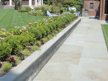 Large Square Cut Bluestone Patios