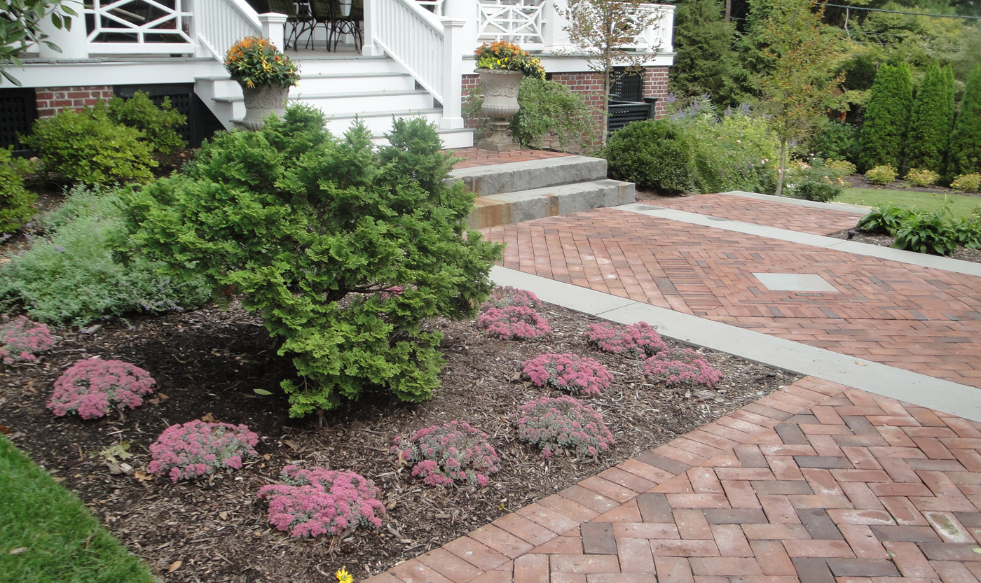Brick Walkway by Cording Landscape Design