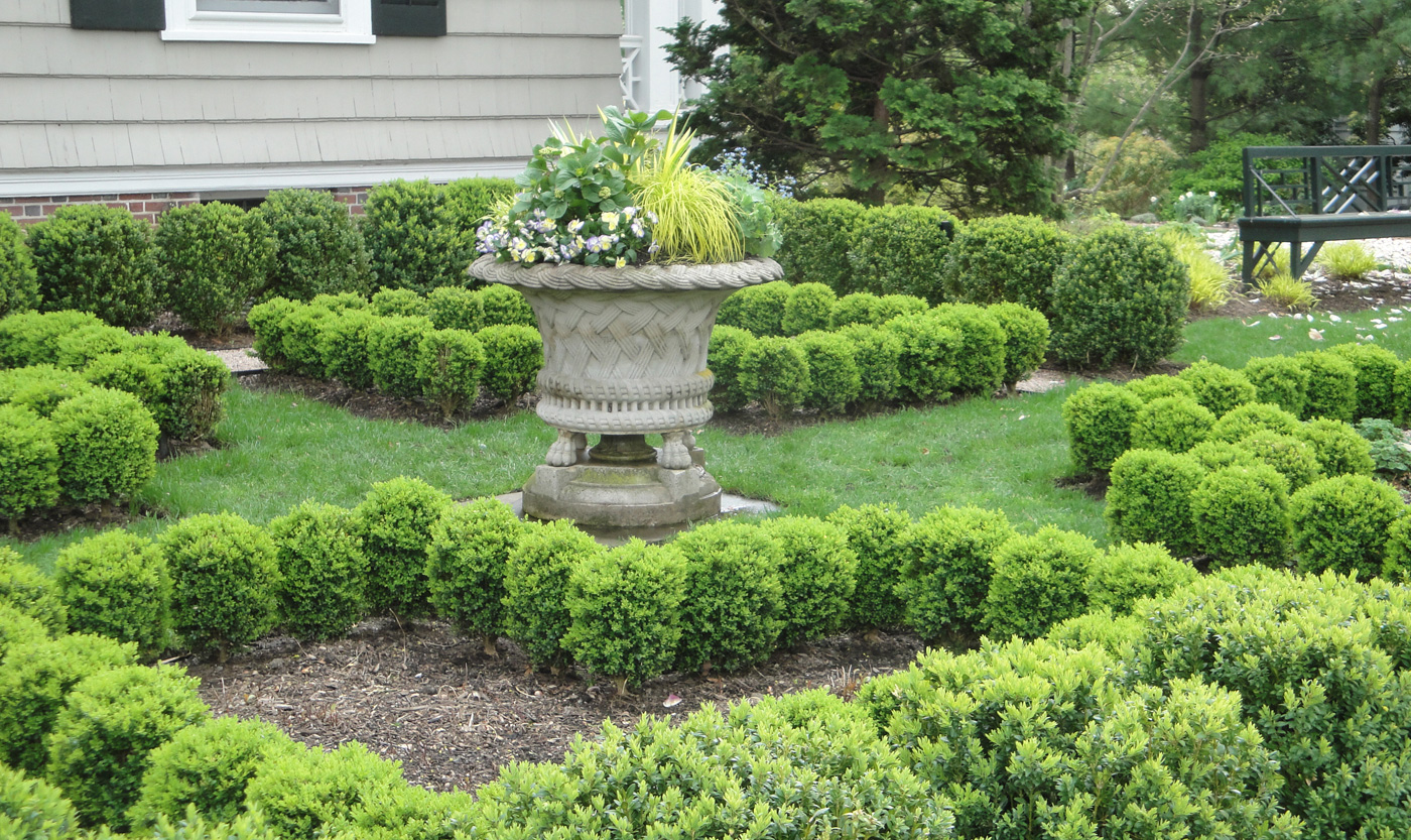 Formal Garden by Cording Landscape in New Jersey