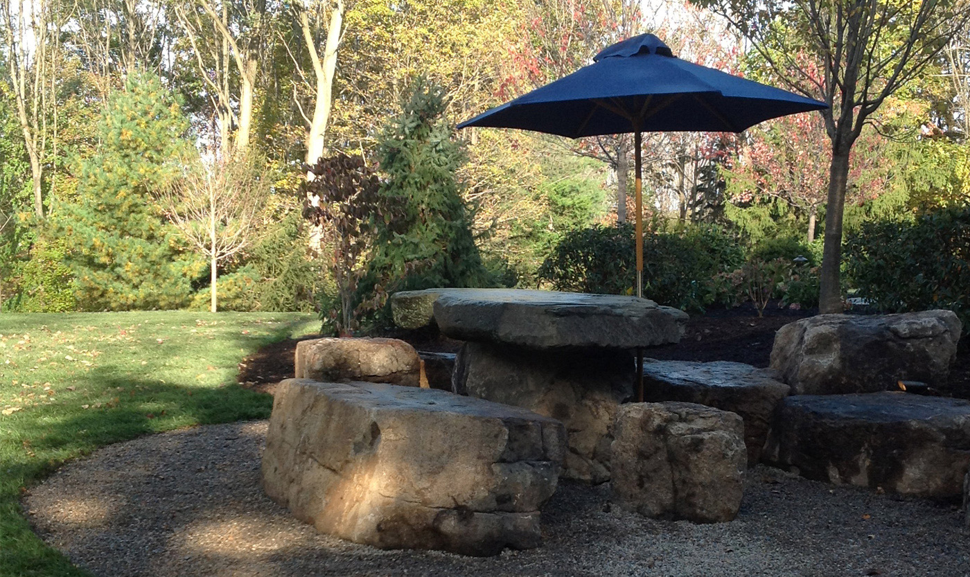 Stone Furniture by Cording Landscape Design