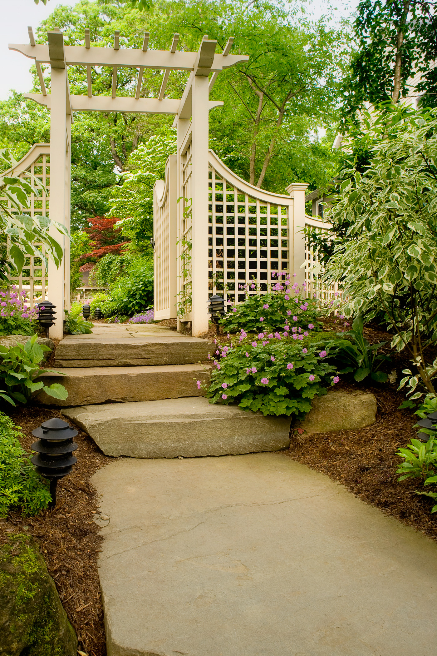 New Jersey Landscaping Stone Steps Garden Design