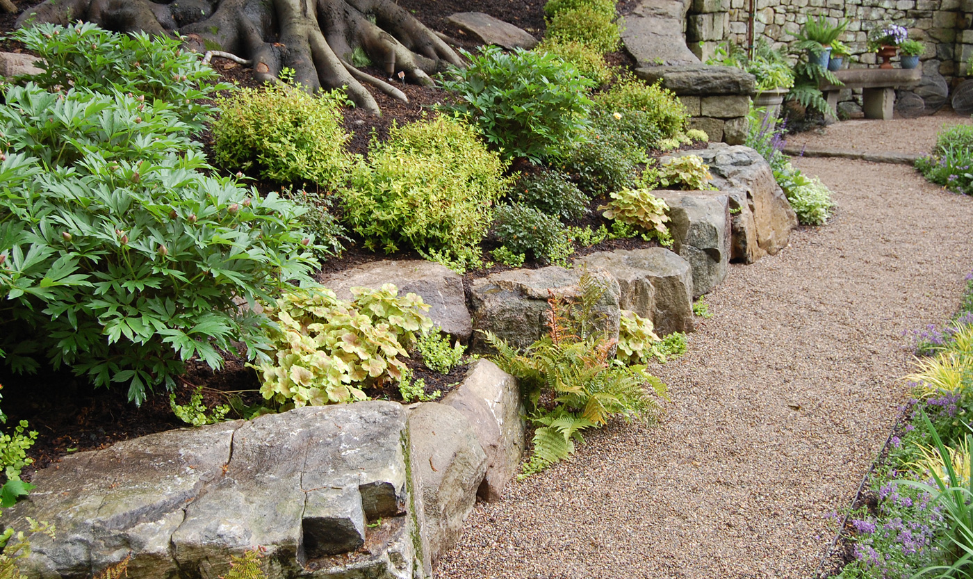 Rock gardens cording landscape design for Garden designs with rocks