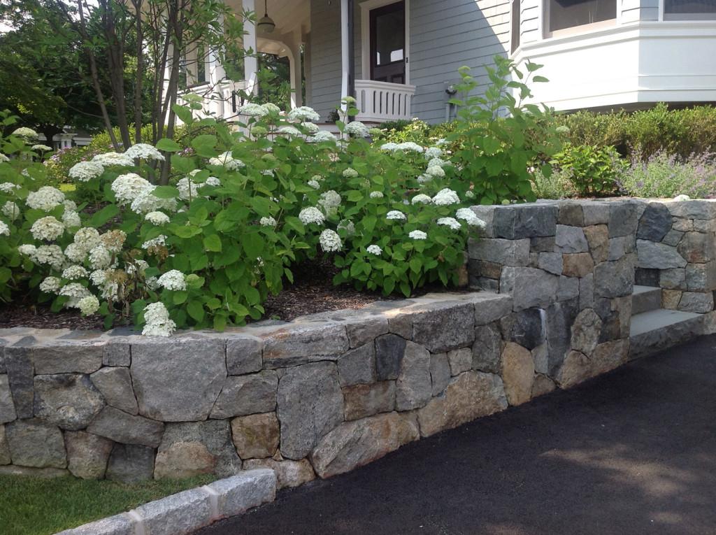 Natural Stone Retaining Walls Cording Landscape Design