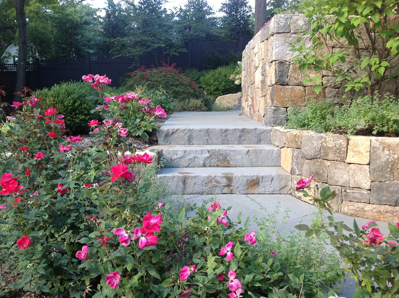 Natural Stone Steps by Cording Landscape Design