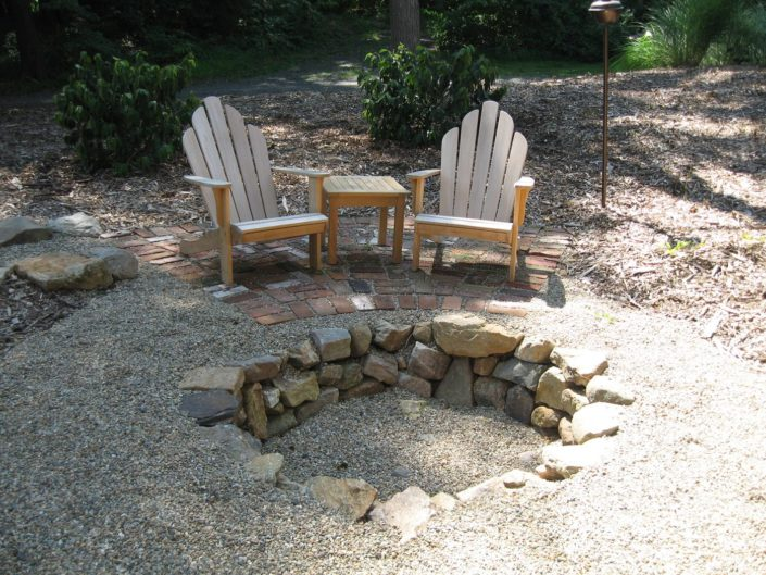 Outdoor Stone Patio Firepit by Cording Landscape Design