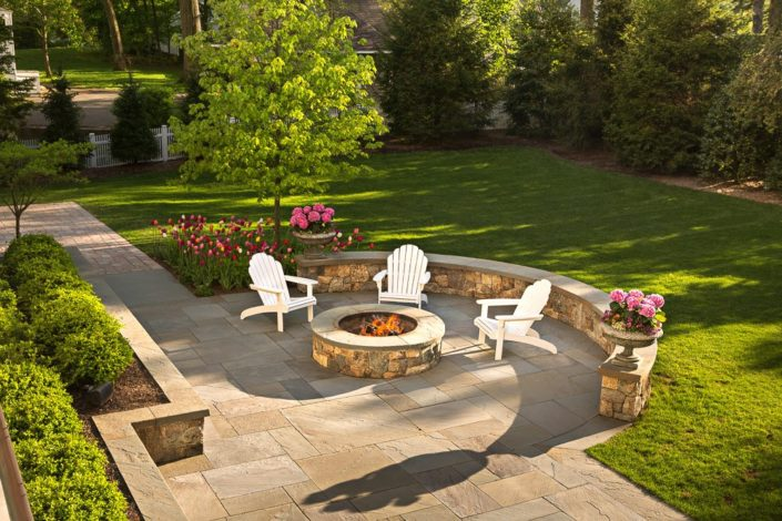 Outdoor Firepit NJ by Cording Landscape Design