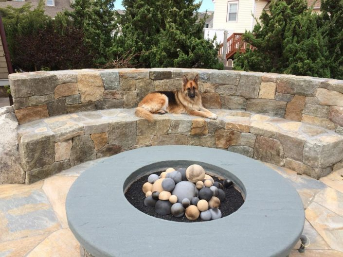 New Jersey Patio Firepit by Cording Landscape Design