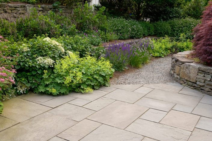 Natural Stone Patio by Cording Landscape Design in NJ