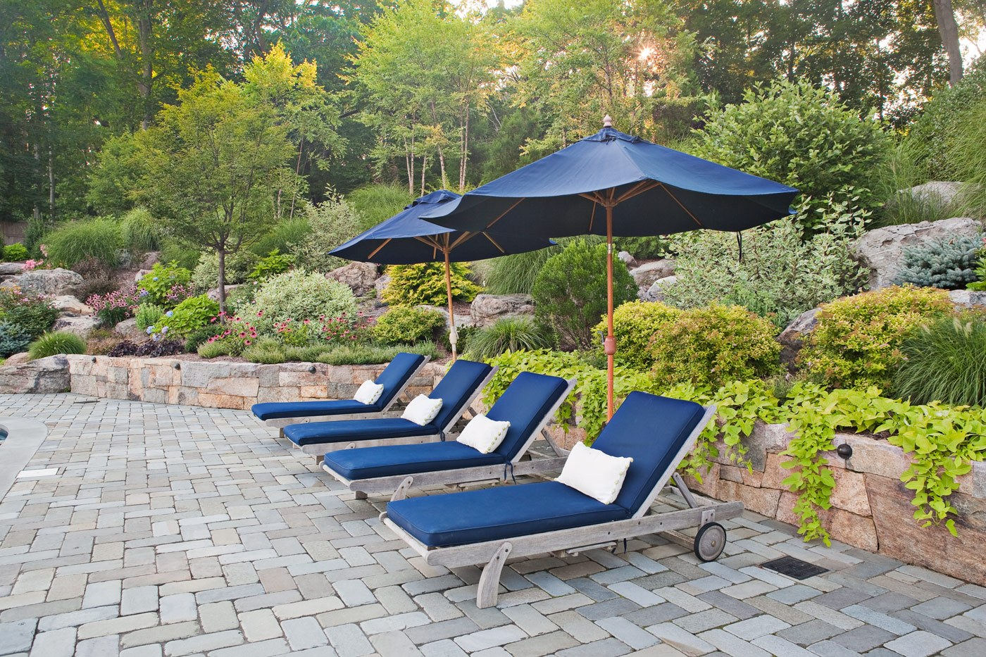 natural stone patio by cording landscape design in nj