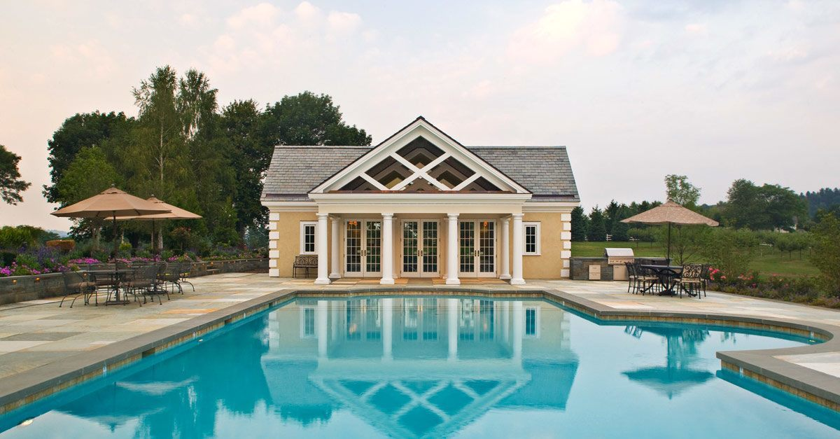 Formal swimming pools cording landscape design for Outdoor pools in nj