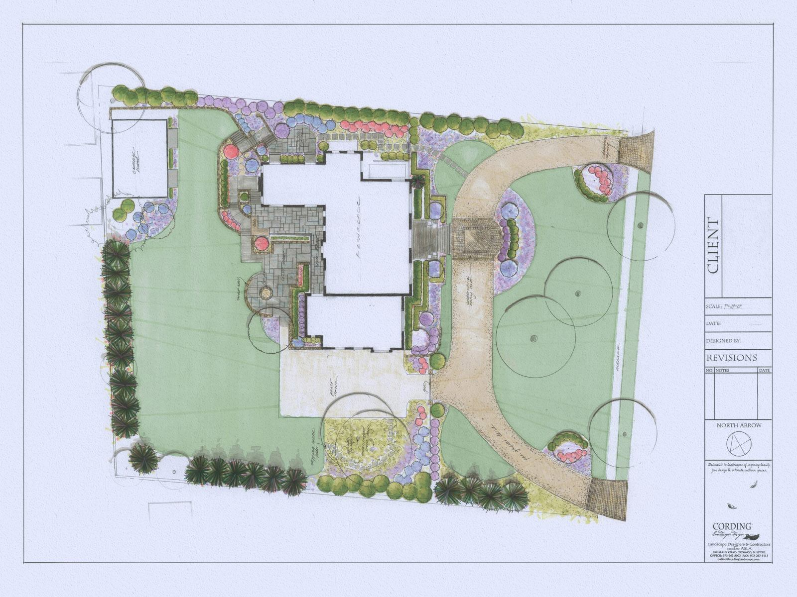 Landscape Plan by Cording Landscape Design in New Jersey