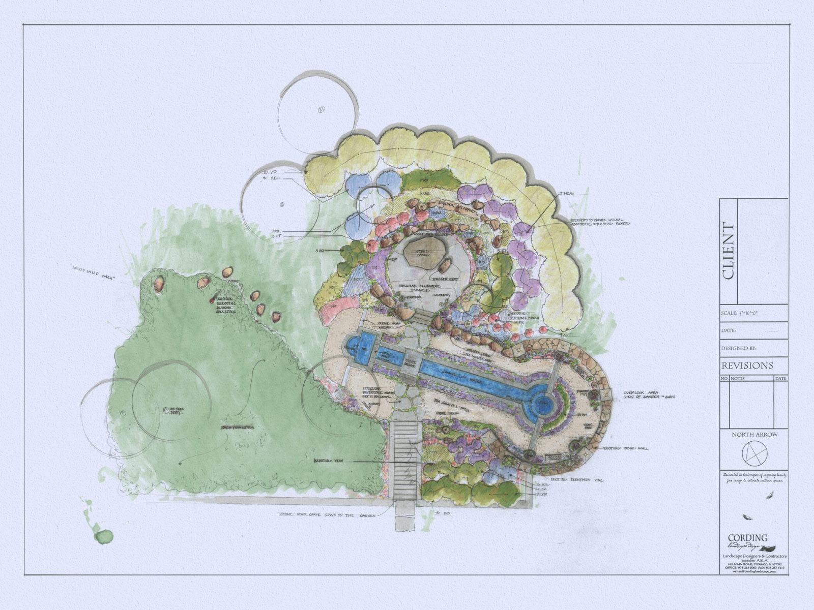 Landscape Plan by Cording Landscape Design in New Jersey
