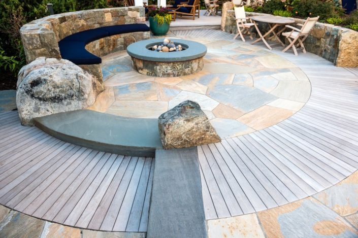 Cording Landscape Design - New Jersey Landscaping - Custom Pool Patio and Firepit