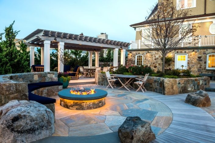 Cording Landscape Design - New Jersey Landscaping - Custom Pool and Firepit