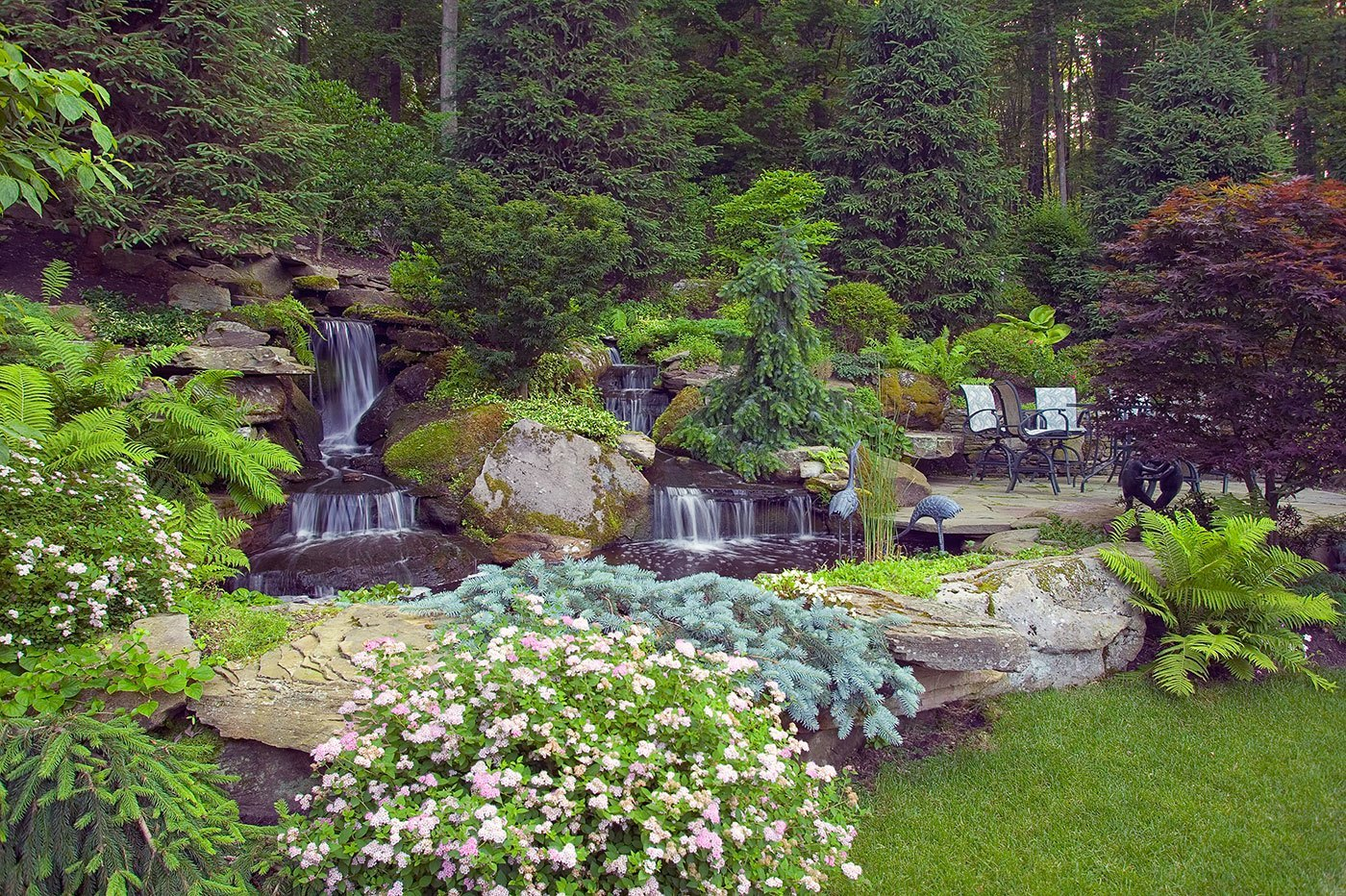 Beautiful ideas the magical nature of water cording for Landscape design nj