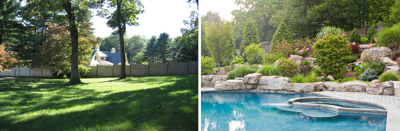 Cording landscape design pool construction before and for Pool design new jersey