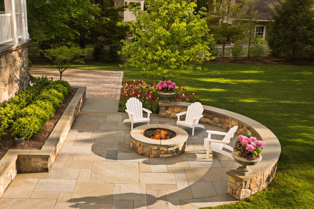 Square Cut Bluestone Patios Cording Landscape Design
