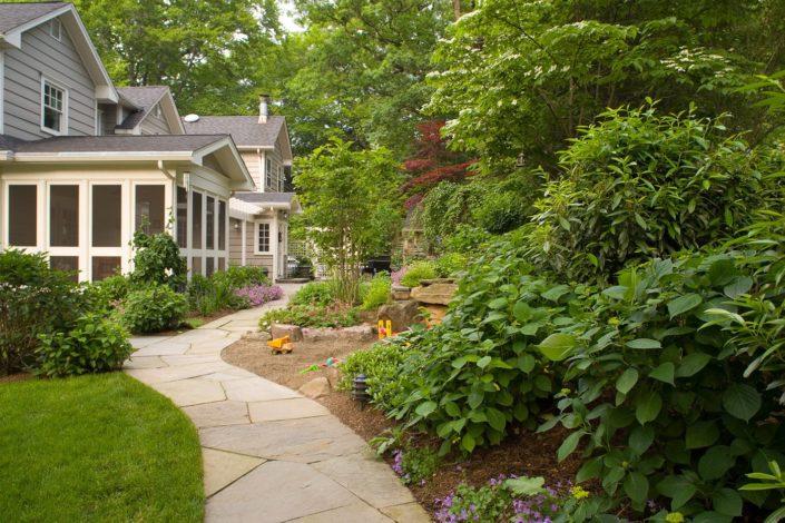 Irregular Bluestone Walkway by Cording Landscape Design in NJ
