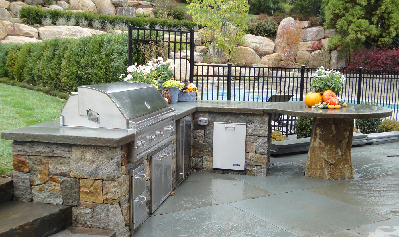 Outdoor Kitchens   Cording Landscape Design on Patio With Grill Area id=45545