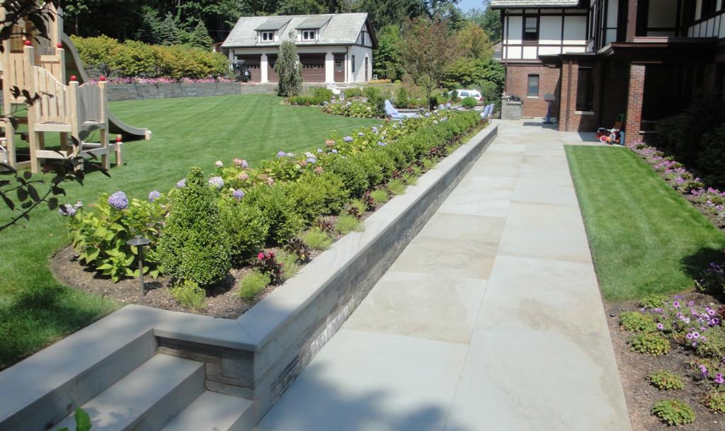Square Cut Bluestone Patios - Cording Landscape Design on Square Patio Designs id=63443