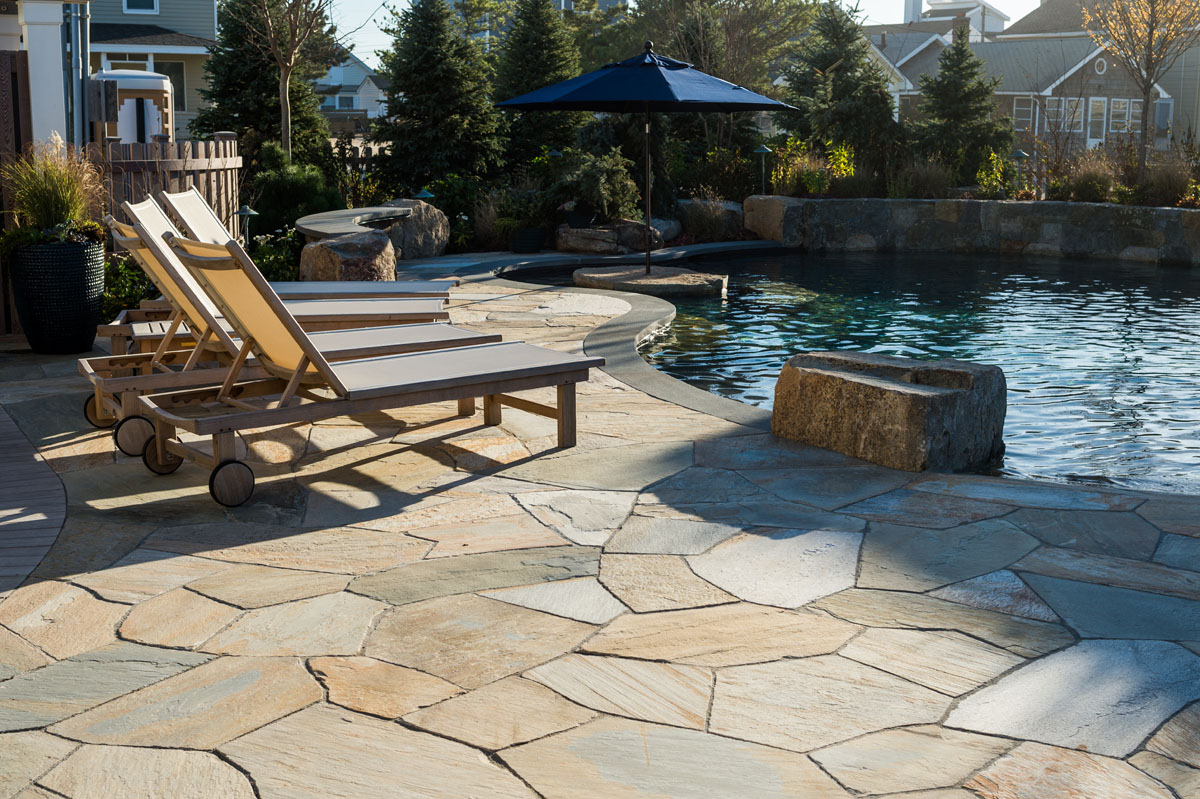 Beautiful Ideas: Using Natural Stone for your Patio ... on Rock Patio Designs id=35417